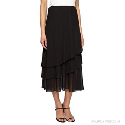 Alex Evenings Women's Tea Length Dress Skirt (Petite Regular Plus Sizes)