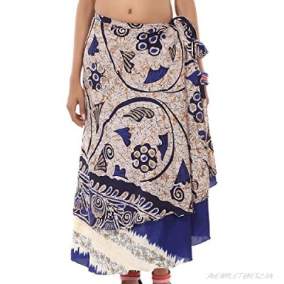 Wrap Around Skirt Wholesale lot of 10 Pcs Printed Reversible Two Layer by R S Jewels Multi Color Long