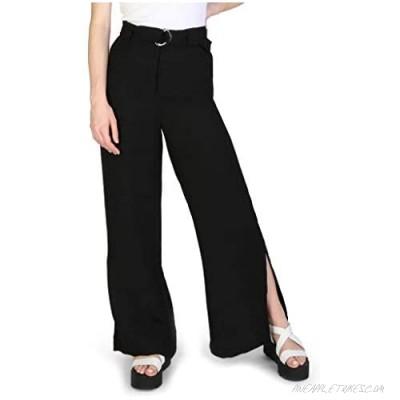 AX Armani Exchange Women's Wide Leg Belted Trouser