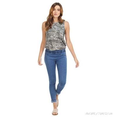 Mud Pie Blue Harlyn Fringe Jeans