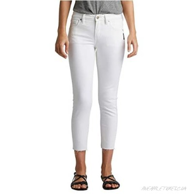 Silver Jeans Co. Women's Avery Curvy-fit High Rise Skinny Crop