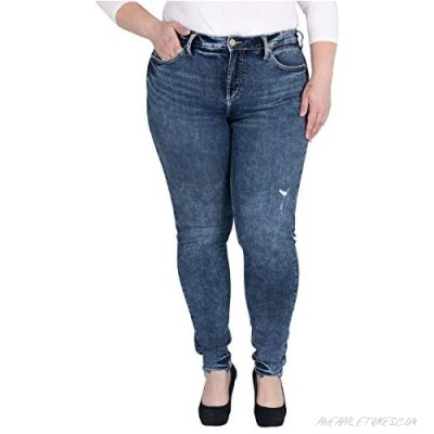 Silver Jeans Co. Women's Plus Size Avery Curvy Fit High Rise Skinny Jeans