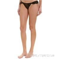PilyQ Women's Star Ruffle Bikini Bottom Teeny Coverage Swimsuit