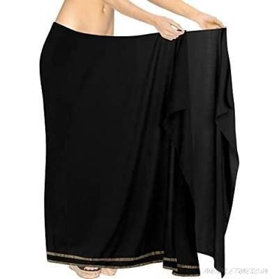 LA LEELA Women's One Size Swimwear Bikini Cover-Up Beach Towel Wrap Embroidered