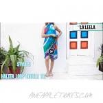 LA LEELA Womens One Size Swimwear Pareo Sarong Bikini Coverups Wrap Embroidered
