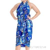 LA LEELA Women's Wrap Beach Swimwear Cover Up Pareo Tie Sarong Skirt Full Long