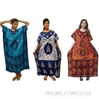 Odishabazaar Cotton Caftan/Kaftan Combo 3 Women's Kaftan Kimono Summer Beachwear Cover up