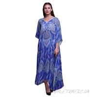 Phagun Floral & Paisley Ladies Plus Size Kaftan Summer Wear Beach Coverup Kimono Caftan