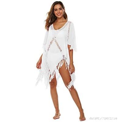 Wicky LS Women's Swimwear Bikini Cover-ups Chiffon Beach Dress with Tassel