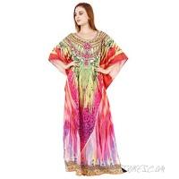 Women's Kaftan Dress Long Caftan Maxi Kimono Tunic Beach Swimsuit Bikini Cover Up Lounge Dresses Regular Plus Size