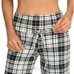 Comfy Soft Pajama Pants for Women Casual Print Drawstring Palazzo Lounge Pants Wide Leg