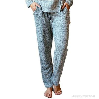 Hello Mello Carefree Threads Womens Loungewear Pants with Pockets and Adjustable Elastic Waistband