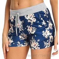 PACBREEZE Women's Yoga Shorts Casual Sleep Pajama Shorts Beachwear Workout Active Shorts with Pockets for Women