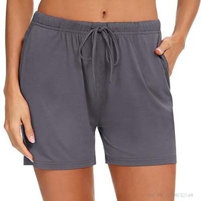 Samring Pajama Shorts for Women Soft Short Pants for Yoga and Running Lightweight Lounge Sleep Pj Bottoms S-XXL