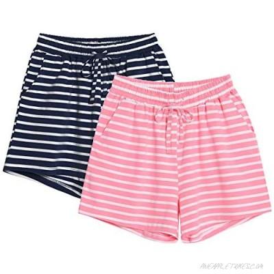 Vesunda Women's Pajama Shorts Sleep Shorts Women Lounge Pants Women's Sleep Bottoms