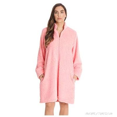 Just Love Plush Zipper Lounger Short Robe