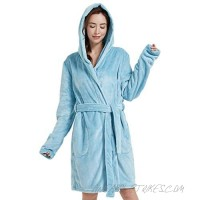 Women's Long Fuzzy Hoodie Robe and Short Plush Hooded Robe Cozy and Warm.