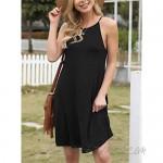 Feiersi Women's Summer Sleepwear Pajama Dress Sleeveless Shift Dress Mini Dress