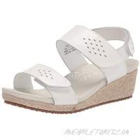 Propet Women's Madrid Espadrille Wedge Sandal White 9.5 X-Wide