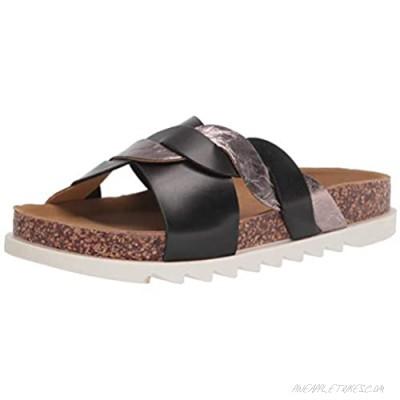 Yoki Women's Comfort Flat Sandal Black 6.5