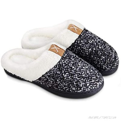 BERGMAN KELLY Women's Slippers Memory Foam Indoor/Outdoor House Shoes with Ultra Soft Wool-Like Plush Fleece Lining (Prairie Collection)