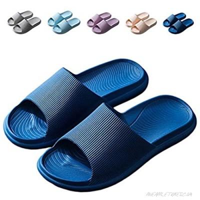 Finleoo Lightweight Women/Men's Slip On Slippers Non-Slip Shower Sandals House Pool Shoes Bathroom Slide Water