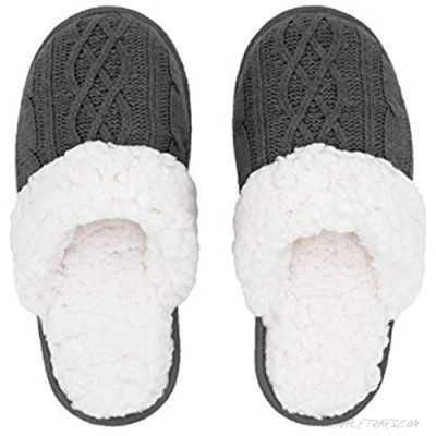 Pudus Women's Cozy House Slippers with Memory Foam & Extra-Plush Fleece Lining