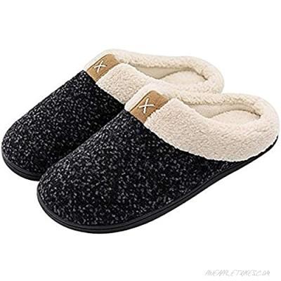 XYIYI Womens Cozy Memory Foam Slippers Mens Fuzzy Plush Fleece Lined House Shoes