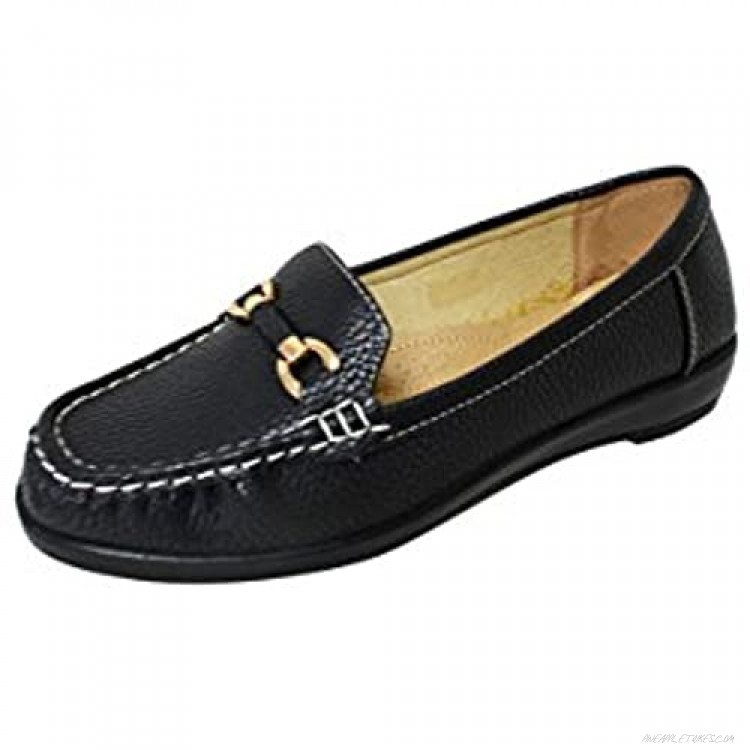 Women' Soft Faux Leather Moccasin Loafer Slip On Shoes (Miss-07/Vivi-04)