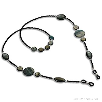DS. DISTINCTIVE STYLE Glasses Chains 2 Pieces Beaded Eyeglass Chain Holders Stylish Sunglasses Straps for Women