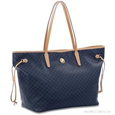 NEW Rioni NAVY Signature Handbag Tote STA20222M