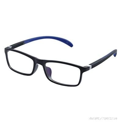 De Ding Plastic Frame Silicon Temple Reading Glasses