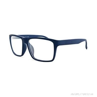 "Newbee Fashion -""Retro"" Unisex Squared Celebrity Star Simple Clear Lens Fashion Glasses"