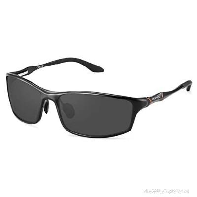 CEETOL Sunglasses for Men Women Classic Square Retro Mental Frame Vintage Driving Sunglasses