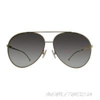 Fendi Women's FF0286/S FF/0286/S 8J5G/FQ Gold Fashion Pilot Sunglasses 63mm