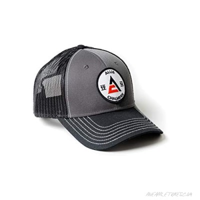 J&D Productions Allis Chalmers Tractor Hat Gray with Black Mesh 1914 Logo