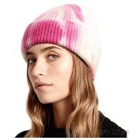 Lvaiz Tie Dye Cuffed Winter Beanie for Women Colorful Warm Unisex Knit Watch Hat Soft Winter Mens Skull Cap