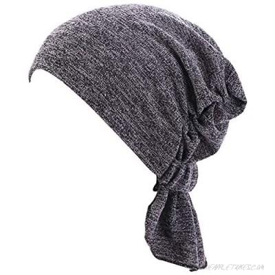 Ruffle Chemo Headwear for Women Cancer Turban Slouchy Cap Muslim Scarf Headband