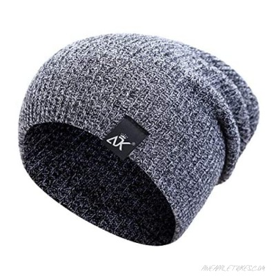 Winter Hats Classic Knit Warm Beanie Hats Daily Ribbed Toboggan Cap for Men & Women Warm Stretchy Soft & Slouchy