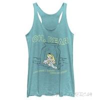Disney Women's Alice in Wonderland Dear Tears Tri-Blend Racerback Layering Tank