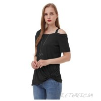 Sofishie Women Short Sleeve Casual Front Twist Knot Tunic